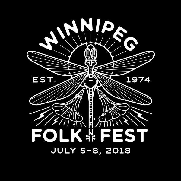Winnipeg Folk Festival 2018 logo shadowed